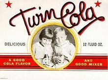 Twin Cola Soda Label 1930s