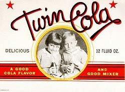 Twin Cola Soda Label 1930s