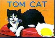 Tom Cat Citrus Crate Labels