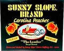 Sunny Slope Peach Citrus Crate Label