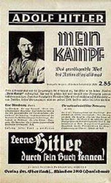 VINTAGE ADOLPH HITLER MEIN KAMPF Poster