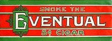 VINTAGE EVENTUAL CIGAR XMAS COLOR POSTER