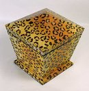 PAINTED ANIMAL LEOPARD PRINT BOX