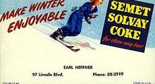 Coca-Cola Ski Blotter 1940s
