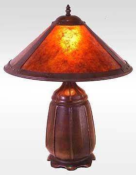 Mica Amber Lamp