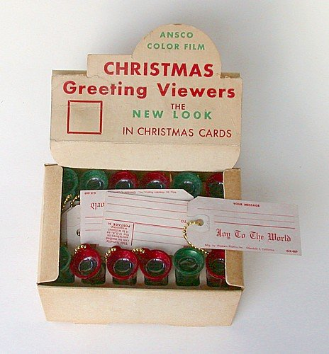 Christmas Store Peep Viewers in Box 1940s