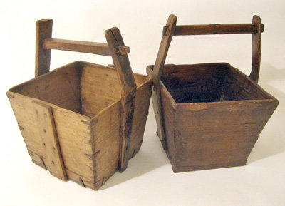 Wood Well Bucket - Antique