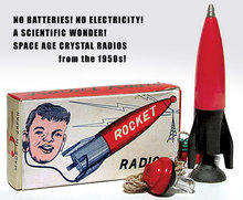 Japan Crystal Rocket Radio Set toy
