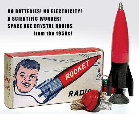 Japan Crystal Rocket Radio Set toy