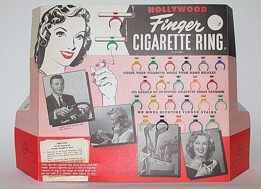 Hollywood Cigarette Ring Finger Store Display FULL