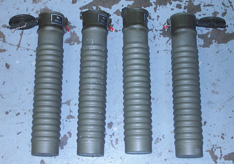 WW2 Ammunition Canisters Tubes