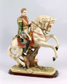RESIN STATUE GENERAL ON HORSE STATUE