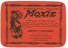 Moxie Soda Bottle Label