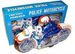 Tin Litho Motorcylce Toy in Box
