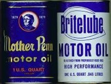 Oil Can Displays / Britelube Mother Penn Vintage Cans