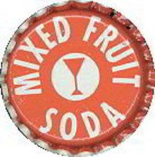 Mixed Fruit Soda Bottle Caps