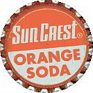 Orange Suncrest Soda Bottle Caps