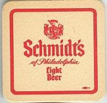Schmidt's Beer Coaster