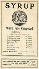 White Pine Syrup Medicine Label