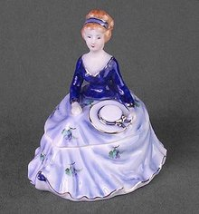 PURPLE PORCELAIN LADY BOX