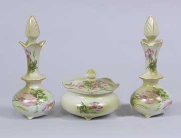 PORCELAIN WILDFLOWER PERFUME BOTTLE SET