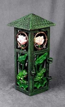 Cast Iron Frog Candleholder