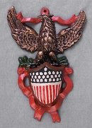 CAST IRON AMERICAN EAGLE MATCH HOLDERS