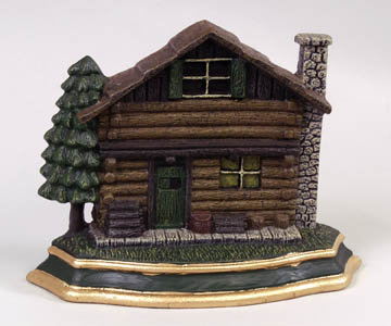 CAST IRON LOG CABIN HOUSE DOOR STOP