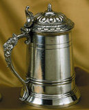 LARGE PEWTER BEER TANKARD