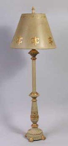 RESIN BASED GOLD GILT LAMP