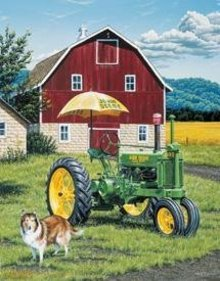 JOHN DEERE TRACTOR TIN SIGN REPRODUCTION