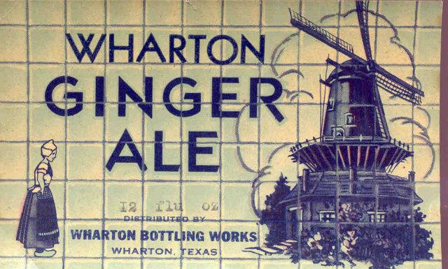 Wharton Gingerale Soda Label