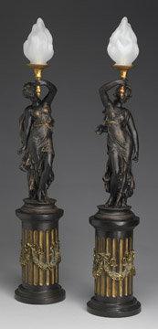 Bronze Resin Lamps