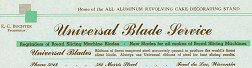 Universal Blade Letterhead