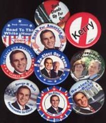 GEORGE WALKER BUSH pins - GWB POLITICAL PINBACKS REPUBLICAN