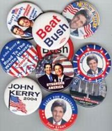 JOHN KERRY PINS - POLITICAL PINBACKS