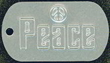 Peace Dog Tag