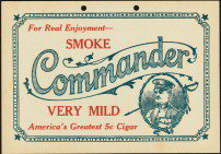 Commander Cigar Sign
