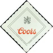 Adolph Coors Beer Napkin coasters