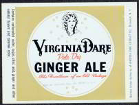 Virginia Dare Gingerale Soda Label