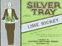SILVER TRAY LIME RICKEY SODA LABEL - ADVERTISING