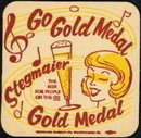 STEGMAIER GO GOLD MEDAL BEER COASTER - ADVERTISING VINTAGE