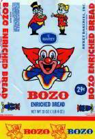 Bozo The Clown Bread Bags - Larry Harmon