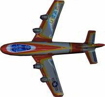 Japan USAF Plane - Lithographed Vintage TOY