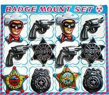 Lone Ranger Toy Badge Set