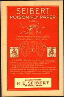 Poison Fly Paper Seibert 1900s