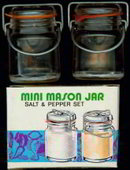 Mason Jar Salt Pepper Shakers in Box