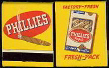 Perfecto Cigar Matchbook matches 1940s