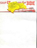 Frisco Railroad Letterhead Note Paper
