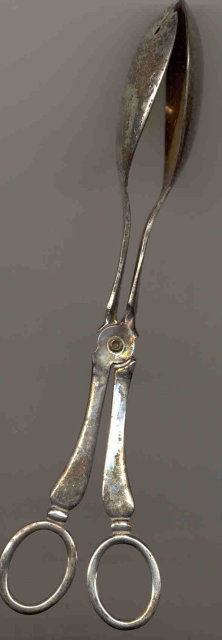 Sheffield Silverplate Tongs - Antique Salad